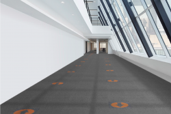 Carpet Tile Designed for Social Distancing & Safety Guidelines